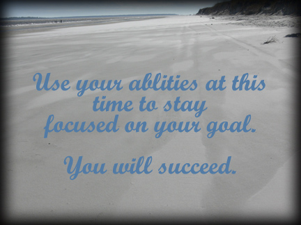 Beach with succeed quote
