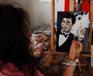 Miz katie painting scarface