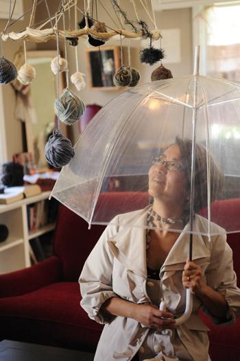 Raining yarn